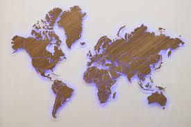 серия Elite | Wooden Print - Карта Мира из дерева