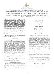 Microwave Horn Design Pdf Horn Antenna Design The Concepts And Considerations