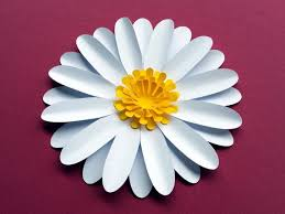 Daisy Paper Flower Easy Diy Daisy Gerbera Paper Flower Template Svg And Pdf To Cut With A Cricut Or Silhouette Or Print And Handcut Daisies Digital Tutorial