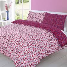 riviera disty pink modern reversible duvet cover fine quality fl bedding set