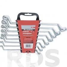 <b>Набор ключей накидных</b> 8 шт, 6-22мм, CR-V, полированный хром