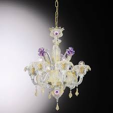 traditional chandelier crystal venetian glass wire giobbe