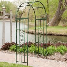 arbor garden. Metal Arch Arbor   Hayneedle Garden