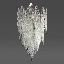 large mazzega multi tiered italian chandelier