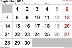 September 2015 Calendar Printable Random Theworkhub Me