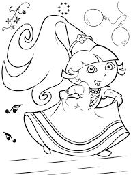 Coloriage Dora La Princesse Ancenscp