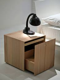 Modern Side Tables For Bedroom Attractive Modern Wooden Nightstand Design Introducing Smart