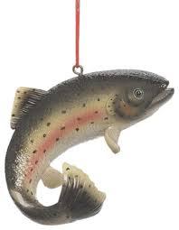 Fish Rainbow Trout Christmas Tree Ornament traditional-christmas-ornaments