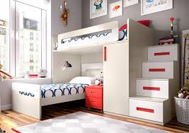 ... Stylish Bunk Beds Fascinating Modern Rimobel Bunk Bed With Bedside  Cabinet, Wardrobe And Steps ...