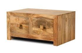 dakota light mango small 4 drawer coffee table 1