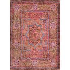germili bright pink 9 ft x 12 ft indoor area rug