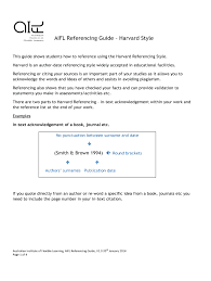 Aifl Referencing Guide Harvard Style Fill Online Printable