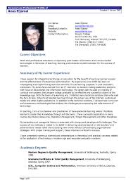 Resume Samples For Experienced Professionals Doc Inspirationa New