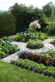 circular garden path pictures of vegetable gardens