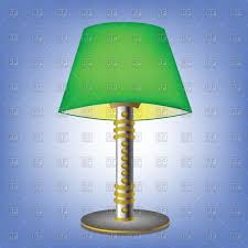 Vintage Glass Table Lamps Blue Desk Lamp Emerald Green Large Ceramic