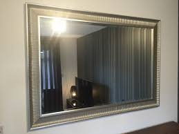ikea e large silver framed wall mirror