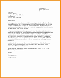 Example Of Cover Letter For Teaching Job Fresh An Example An