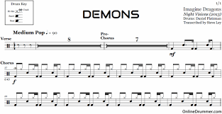 Demons Imagine Dragons Drum Sheet Music Onlinedrummer Com