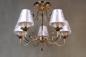 lights appliances stunning gold classic style brass chadeliers with cone silver paper lamp shades stunning