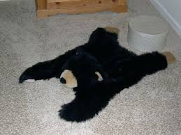 faux bear skin rug m small black faux bearskin rug with head faux bear skin rugs