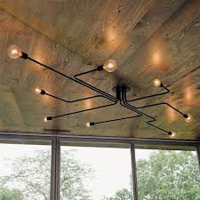 industrial steampunk metal pendant chandelier 8 lights semi flush ceiling lights