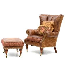 Zimmerman Furniture Brown Leather OverStuffed Chair And Ottoman EBTH Best Zimmermans Furniture Model