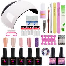 easy to use gel nail polish kit 24w usb led lamp nail dryer uv gel varnish polish top base coat art manicure tools diy nail art nail art gallery from boyyt