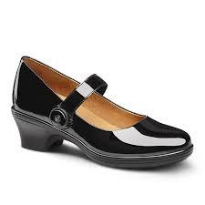 dr comfort dress shoe patent leather black