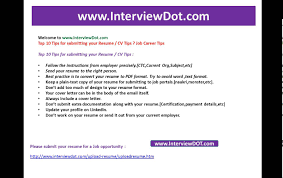 Resume Submit For Job Top 24 Tips For Submitting Your Resume Cv Tip Job Interview YouTube 6