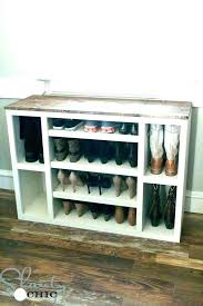 shoes rack closet closet shoe rack built in foyer boot home design free