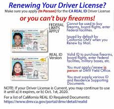 Non-real Licenses January Range Send Gun 22nd You Started Will - Drivers By Ca Indoor amp; Stage Stop alert Or 2018 It The Can And Shop So Making Online Back Id's On Verbiage They Issuing If Mail With Ab60 Starting Renew Default Card