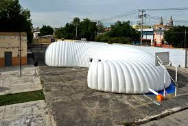 Inflatable Concrete Inflatable Traveling Museum Brings The Story Of Pre Hispanic