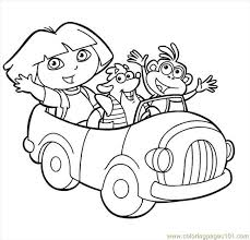 Small Picture Dora Picture 2 Coloring Page Free Dora the Explorer Coloring