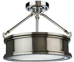 artcraft sc13042bn eastwick modern brushed chrome flush ceiling light fixture art sc13042bn