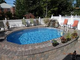 simple inground pool designs. simple and neat home exterior decoration using inground pool decks casual image of backyard landscaping designs t