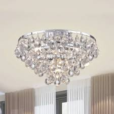tranquil crystal bubble and chrome flush mount chandelier free refer to flush mount chandelier