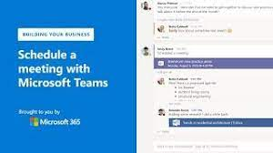schedule a meeting with microsoft teams