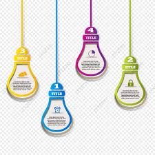 Hanging Infographic Bulb Infographic Template Marketing