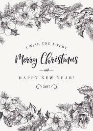 Merry Christmas Card Black And White Tirevi Fontanacountryinn Com