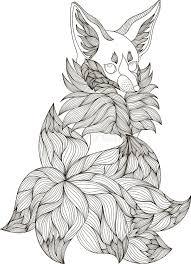 Zentangle Stylized Fox Stock Vector Illustration Of Eyes 82893099