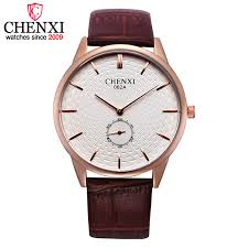 brown leather watch page 16 bracelet gold fashion chenxi brand rose golden watches men luxury fashion brown leather male wristwatch small work dial design quartz analog watch man fashion