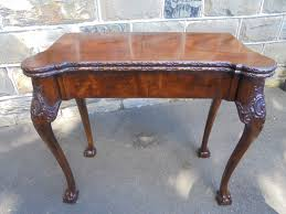 Antique George Ii Style Mahogany Fold Over Card Games Tables Dd