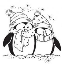 Small Picture Cute Penguin On Christmas Coloring Pages penguins Pinterest