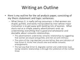 the paper writing process analyzing an advertisement ppt  writing an outline here is my outline for the ad analysis paper consisting of my
