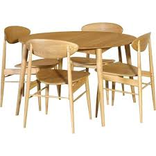 retro style dining table and chairs s retro oak round dining table set with vibrant style