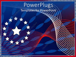 Red White And Blue Powerpoint Templates Powerpoint Template Red White And Blue Abstract Stars And Stripes