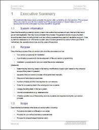 Executive Summary Template Word New Conversion Plan Template MS Word Templates Forms Checklists