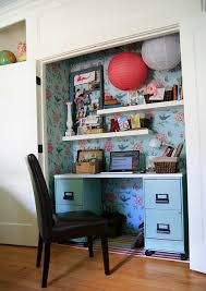 Image Desk Small Home Office In Closet kelly Rae Roberts Room Decorating Before And After Makeovers Room Decorating Before And After Makeovers