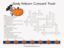 7 Halloween Crossword Printable - Medium level