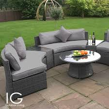 maze rattan half moon curved garden sofa set 2 seater rattan garden furniture sets